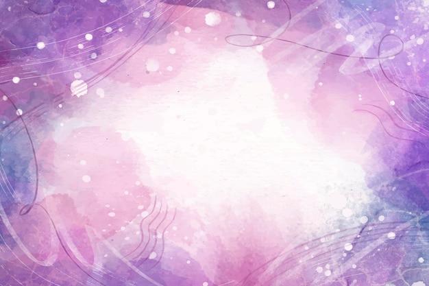 Watercolor hand drawn purple background