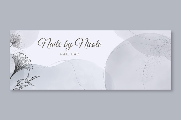Watercolor hand drawn style facebook cover