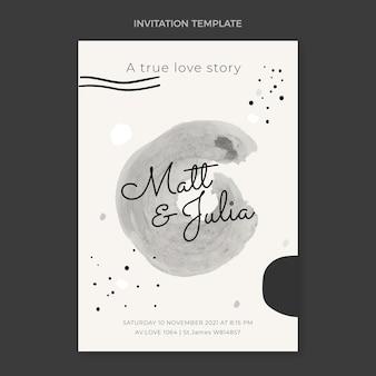 Акварельное приглашение на свадьбу