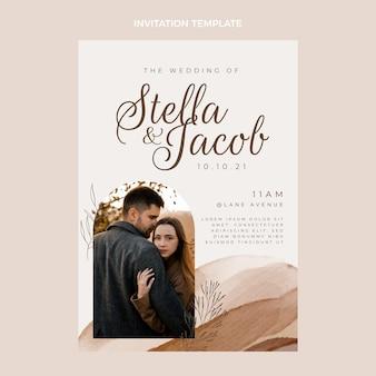 水彩手描きの結婚式の招待状