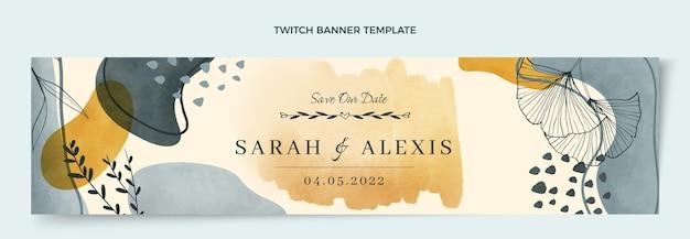 Акварель рисованной свадебный баннер подергивания