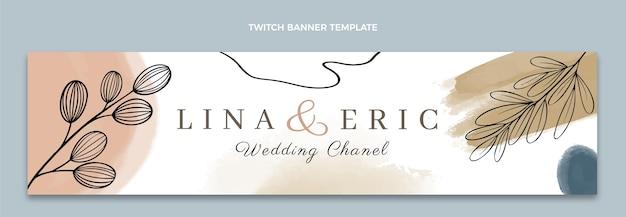 Bandiera di contrazione di nozze disegnata a mano dell'acquerello
