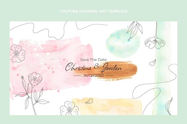 Acquerello disegnato a mano matrimonio canale youtube arte