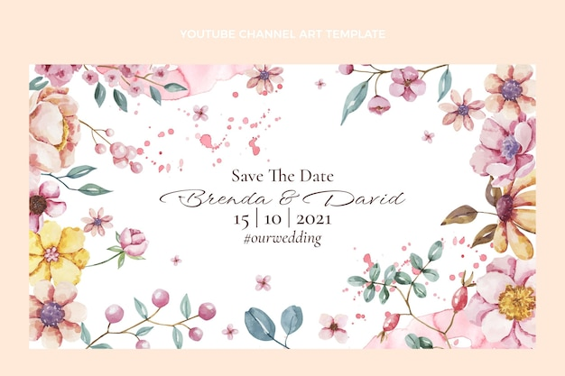 水彩手描きの結婚式のyoutubeチャンネル