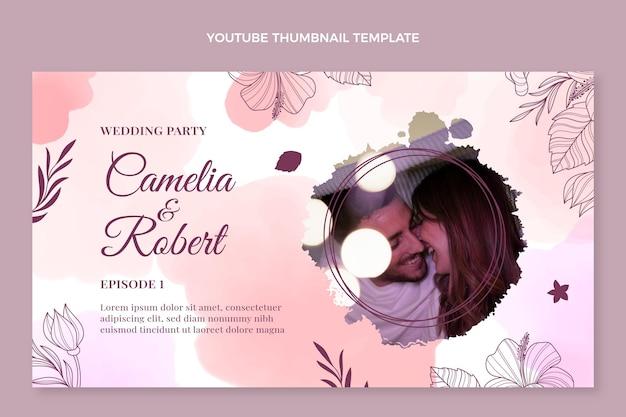 수채화 손으로 그린 결혼식 유튜브 미리보기 이미지