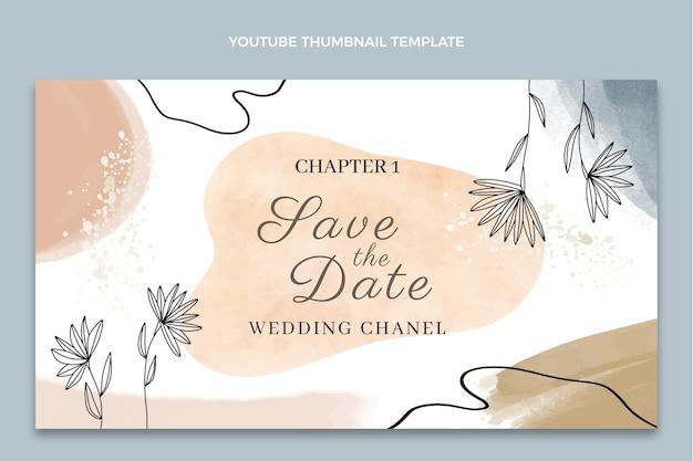 Miniatura di youtube per matrimonio disegnato a mano ad acquerello