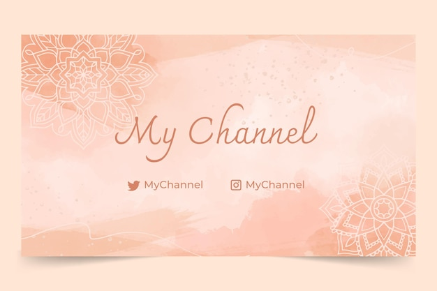 Watercolor hand drawn youtube channel art
