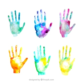 Watercolor hand pack