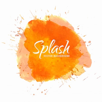 Watercolor  hand paint splash
