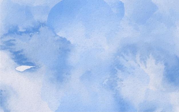 Акварель ручная роспись абстрактный фон лазурь