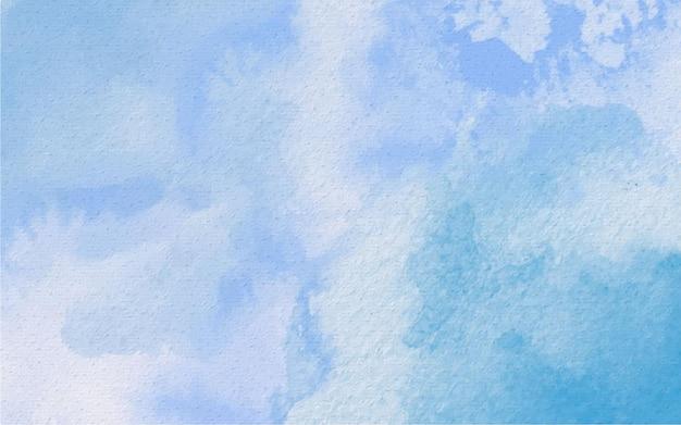Акварель ручная роспись абстрактный фон голубого неба