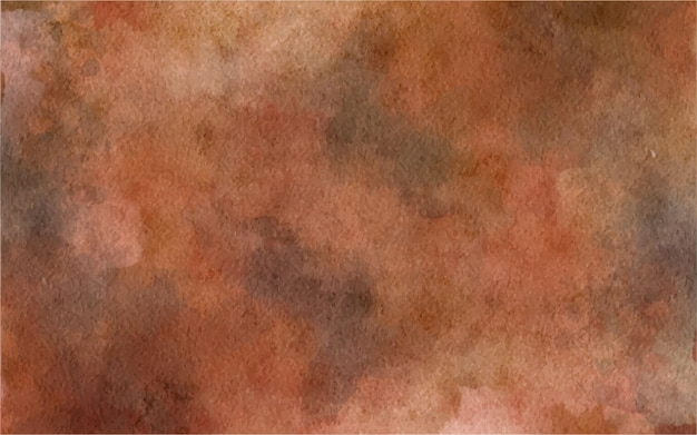 Watercolor hand painted abstract brown background