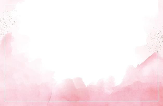 배경에 대한 수채화 손으로 그린 추상 빨간색 스플래시