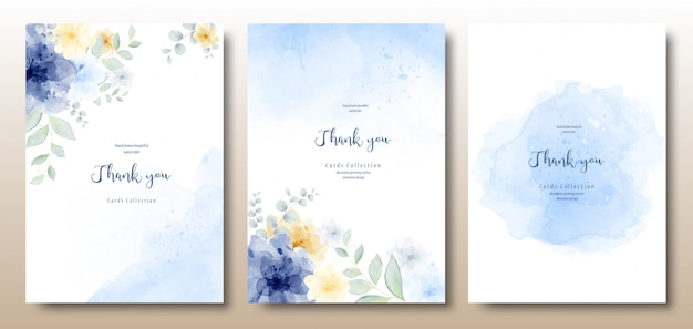 Watercolor hand painted beautiful invitation template