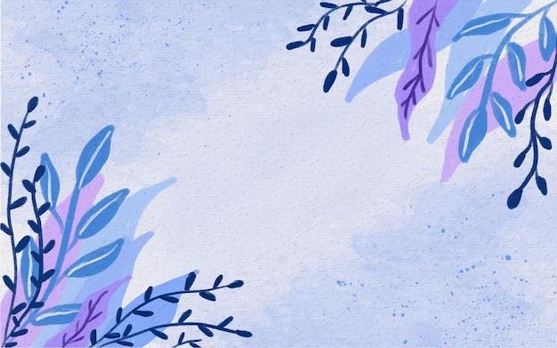 結婚式の招待状の背景イラストの花の水彩手描きフレーム