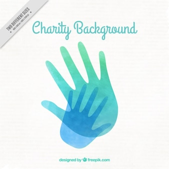 Watercolor hands background