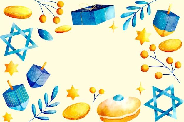 Watercolor hanukkah background