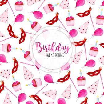 Watercolor happy birthday background