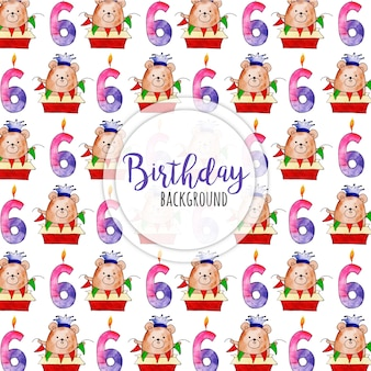 Акварель с днем рождения