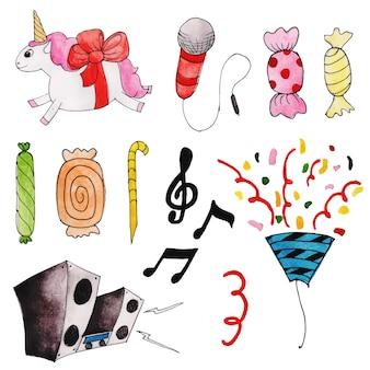 Watercolor happy birthday