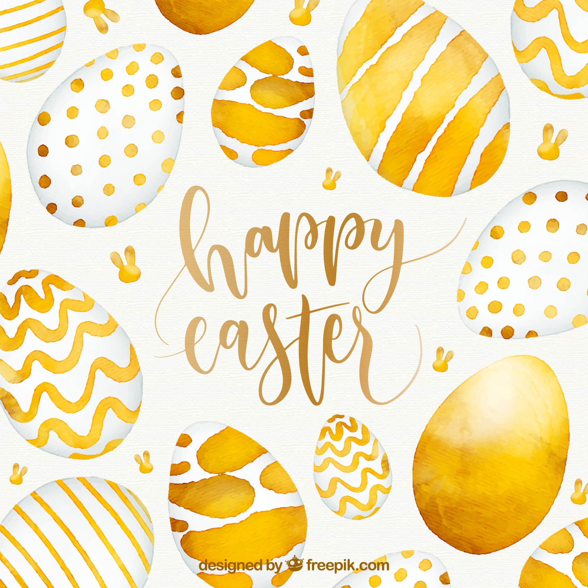 Watercolor happy easter day background