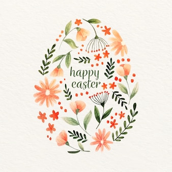 Watercolor happy easter day design
