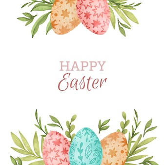 Watercolor happy easter day lettering
