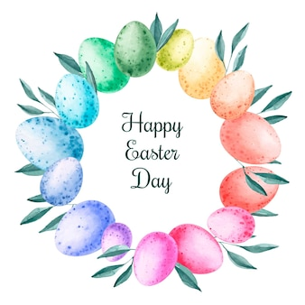 Watercolor happy easter day wallpaper