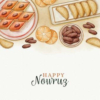 Watercolor happy nowruz day event