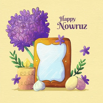 Watercolor happy nowruz event