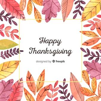 Acquerello felice giorno del ringraziamento sfondo