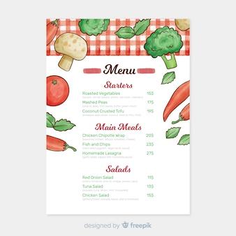Watercolor healthy menu template
