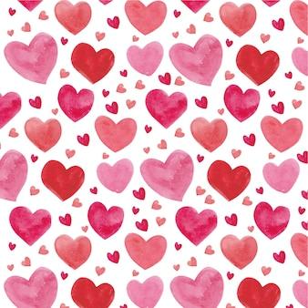 Шаблон акварель сердца
