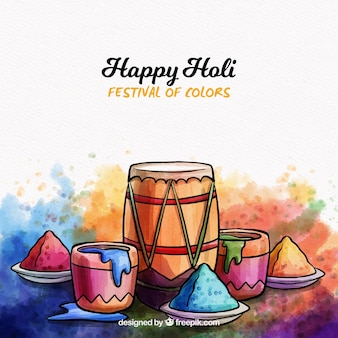 Watercolor holi background