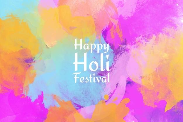 Watercolor holi festival background
