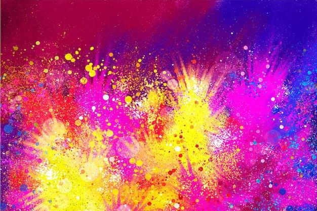 Watercolor holi festival illustration
