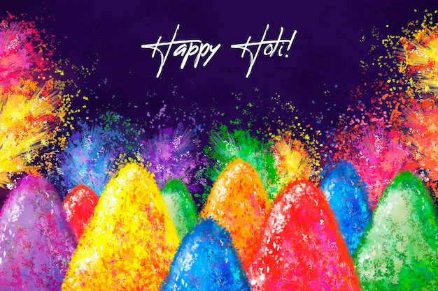 Watercolor holi festival