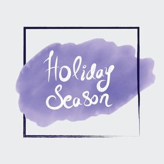 Watercolor holiday season design