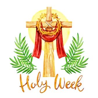 Watercolor holy week