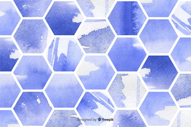 Watercolor honeycomb mosaic background