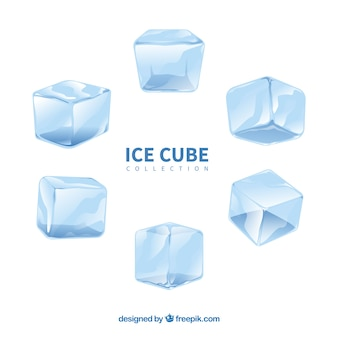Watercolor ice cube collection