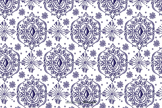Watercolor ikat background