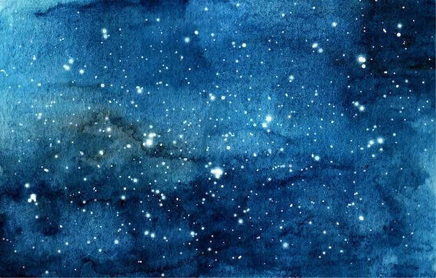 Watercolor illustration of night sky.