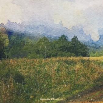 수채화 인상파 풍경