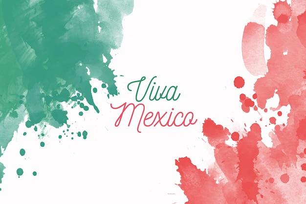 Watercolor independencia de méxico