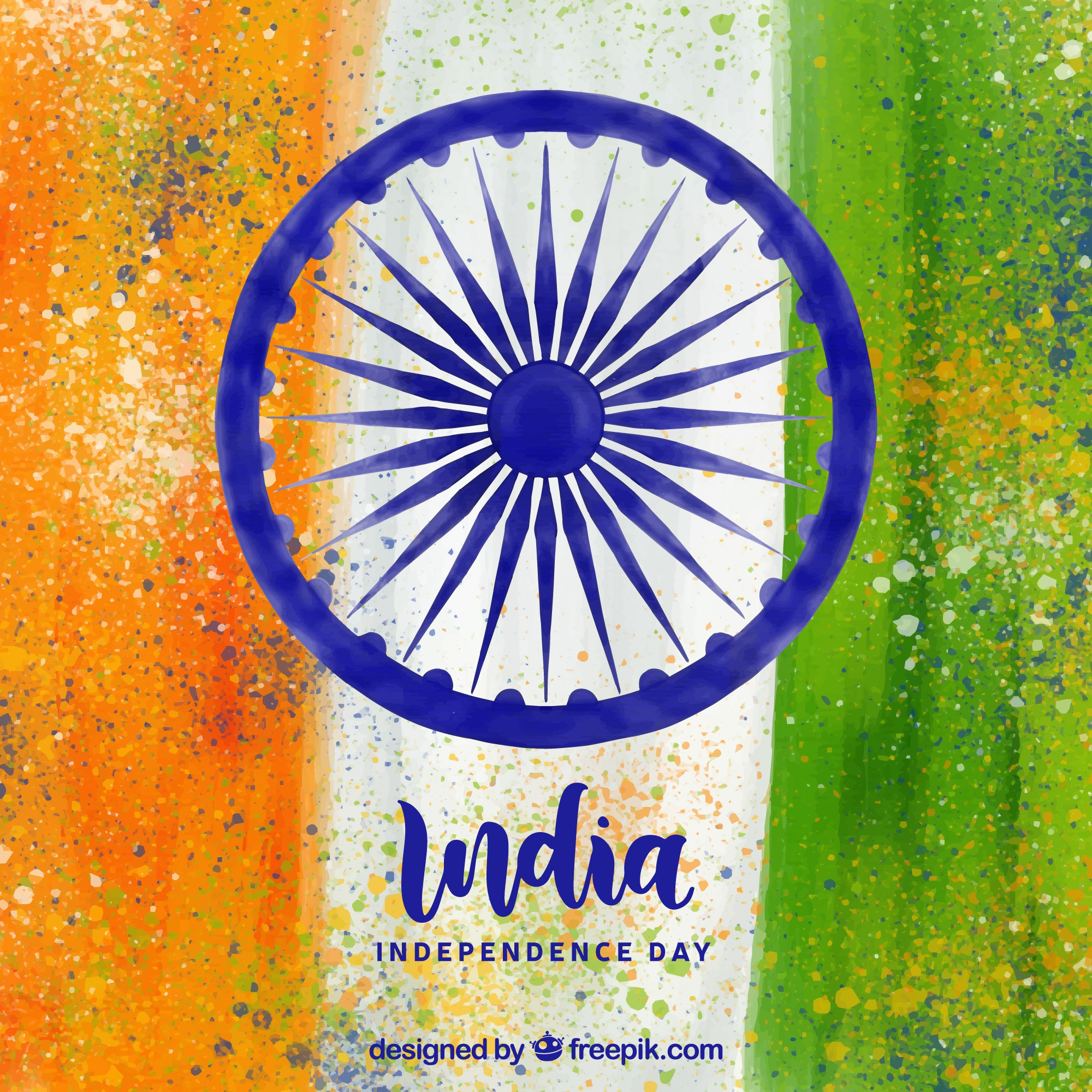 Watercolor indian independence day background