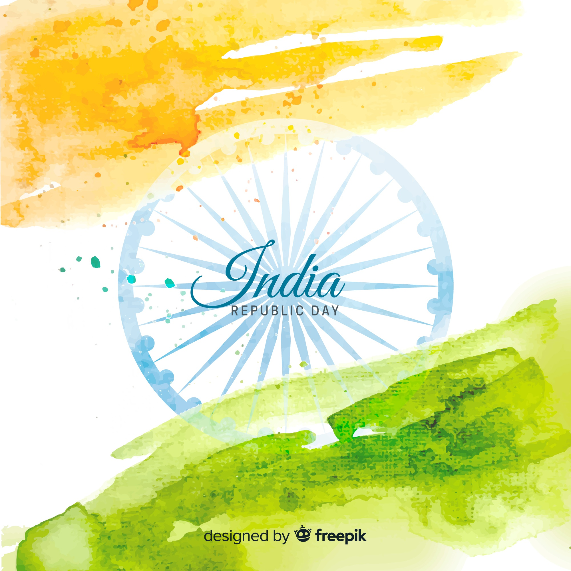 Watercolor indian republic day background