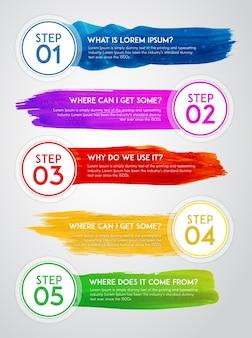Watercolor infographic design