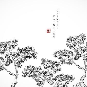 Акварель чернила краска искусство текстура иллюстрация дерево