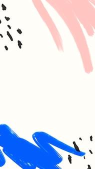 水彩instagramストーリー壁紙ベクトル、最小限のソーシャルメディアの背景